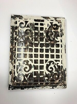 Antique Cast Iron Heat Register Vent Grate Victorian Ornate Scroll Wall 9 X 12