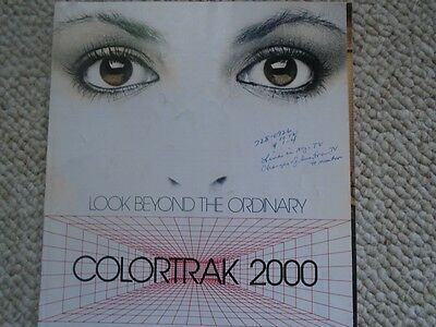 Vintage Rare 1982 RCA Colortrak 2000 TV Products Photo Print Ad 10 pages USA