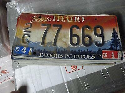 IDAHO*License Plate*2C 77 669*Scenic Rocky Mountains/Trees Famous Potatoes*ORIG!