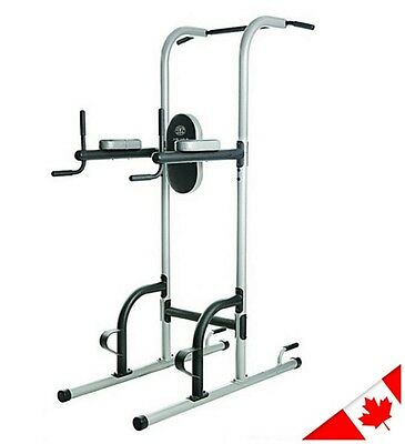 Gold's Gym Power Tower Fitness Gym Workout Pull Up Muscle Strength Station Toner