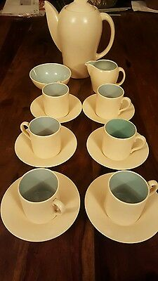Exquisite Susie cooper coffee service complete c1930s NO DAMAGE coffee for six.