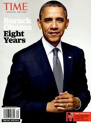 BARACK OBAMA EIGHT YEARS SPECIAL EDITION TIME MAGAZINE 2016 life
