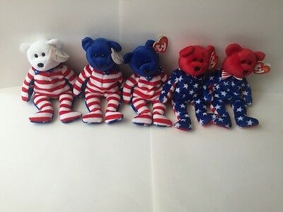 Liberty  Red, White and Blue Beanie Babies