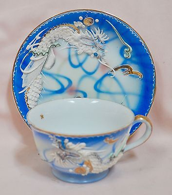 Blue Dragon Ware Cup and Saucer  Wales China Made in Japan