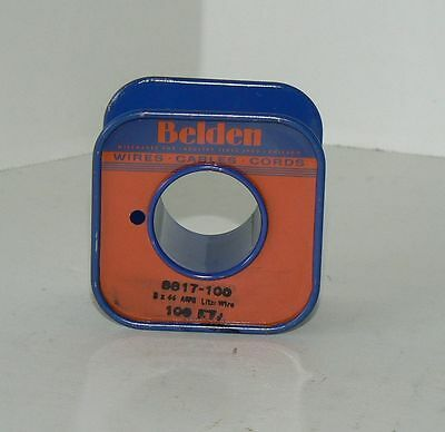 BELDEN 8817 LITZ WIRE 5X44AWG Cloth Covered Wire for Radio Loop Coils - NOS