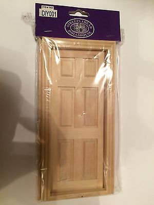 Dolls House Miniature 1:12th Scale Wooden Doors
