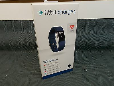 Fitbit Charge 2 Heart Rate & Activity Tracker - Large Blue