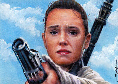 Star Wars The Force Awakens Rey ACEO ATC Sketch Card by Jim Kyle