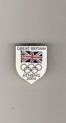 Noc  Great Britain Olympic Games  2004 Athens Team  Shield Lapel  Badge
