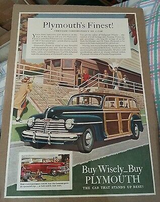 1941 Plymouth Special Deluxe Station Wagon Automobile ad