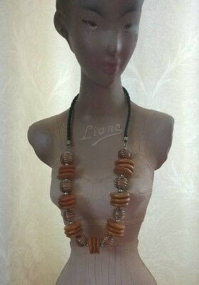 Handmade / Handcrafted Wooden Necklace from Bali - Ethically Made - Long Length