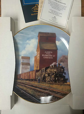 Steam on the CPR limited edition collector plate 3528/15000