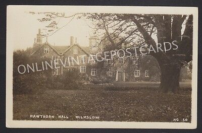 Cheshire Hawthorn Hall Wilmslow Large Country House Real Photo