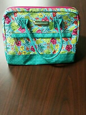 2016 Tupperware Tropical Glamour  Lunch Bag Turquoise  Pink Fuchsia Kiss