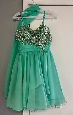 Let's Fashion Mint Green Prom Homecoming Pageant Formal Dress Size XS