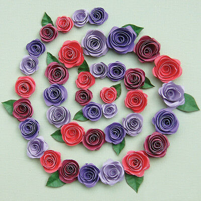 Quilled Creations Kit - Spiral Roses - Burgundy, Red And Purples