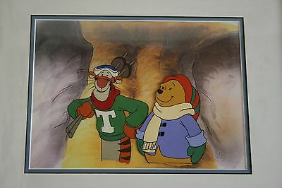 Winnie the Poo original production cel. Tigger and Winnie. Ideal Christmas gift.