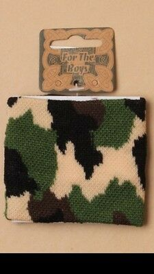 Boys Trendy Cool Camouflage Knitted Wristband Sweatband