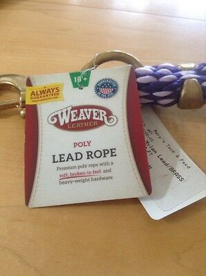 Weaver 10 Foot Poly Lead Rope With Brass Snap