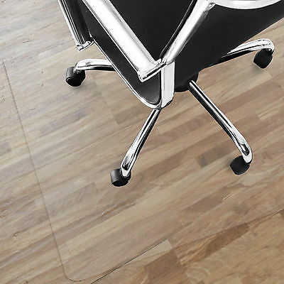 Office Chair Mat / PVC Hard Floor Protection / Non-Slip Highly Transparent Clear