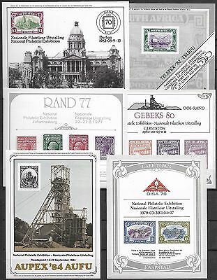 South Africa National Exhibition Minisheets x6