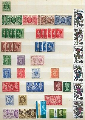 Great Britain Lot of Mint & Used unchecked over 4 Scans