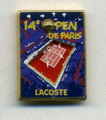 Pin's Tennis Open Paris Bercy Lacoste double moule Arthus Bertrand