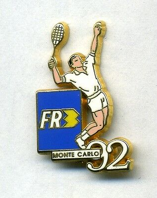 Pin's Tennis Monte Carlo 92 Media FR3 Arthus Bertrand