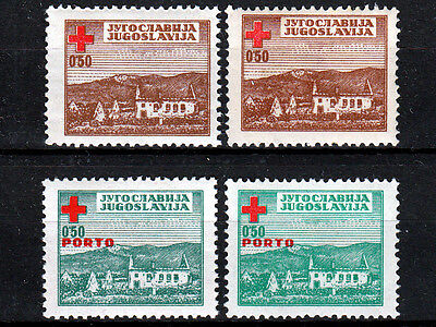 YUGOSLAVIA ☀ 1947 Red Cross & PORTO postage due / Charity stamps ☀ MNH shades