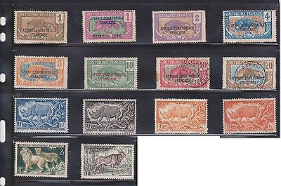 (U4-48) 1936-40 Equatorial Africa mix of 62stamps 1c to90c &1F to 15F (A)