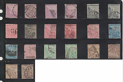 (U4-33) 1864-1902 Cape of Good Hope mix of 48stamps ½d to 1/-
