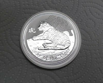 Low Mintage! 2010 Lunar Year of the Tiger 2 Oz Silver Coin AUSTRALIA!