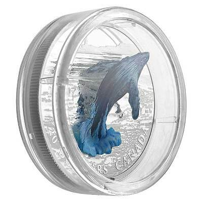 2017 3D Breaching Whale 1oz Silver Proof Coin