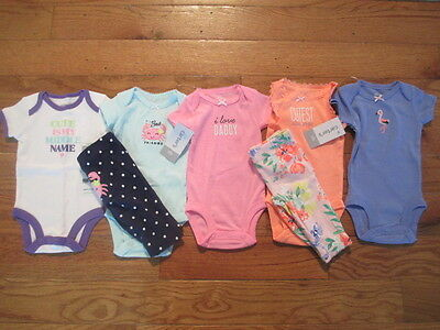 7 piece LOT of Baby Girl Spring/Summer clothes size Newborn NWT