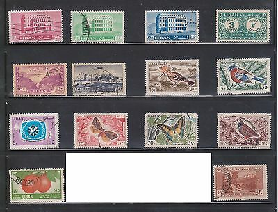 (U2-25) 1944-46 Lebanon mix of 67stamps 0.10p to 100p (A)