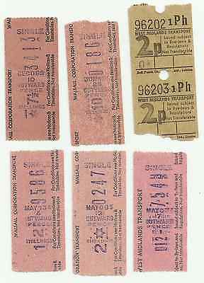 Bus tickets; Walsall Corp Transport / West Midlands Transport