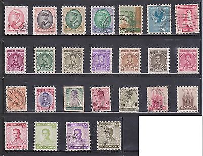 (U3-3) 1960-80 Thailand mix of 53stamps 1B to 75B
