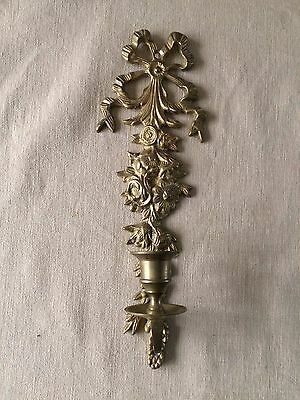 Gorgeous Decorative BRASS WALL HANGING CANDLE HOLDER - 31 cm long