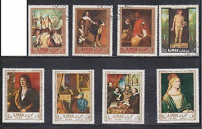 (U1-7) 1967 AJMAN mix of 32stamps 1R to 10R (E)
