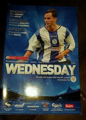 Sheffield Wednesday v Leicester City 2005 -06 programme