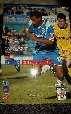 Oldham Athletic -v- Colchester United  2005-2006 Football League Programme