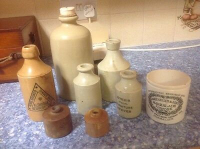 Collection of old stone jars