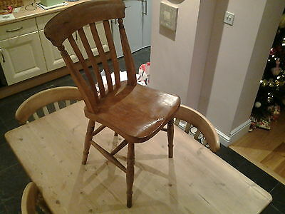 old  GWR Great Western Railway solid pine chair railwayana collectable