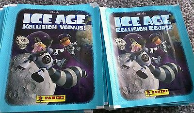 21 packs of Ice Age Collision Course Panini Stickers sealed  Packets