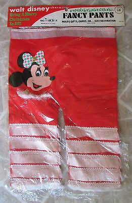 VTG DISNEY MINNIE MOUSE FANCY PANTS Holds Gifts Cards Christmas Decoration Rare