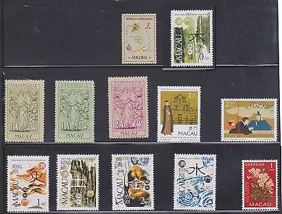 (U3-1) 1980-90 Macao mix of 12stamps 1A to 2.50 (A)