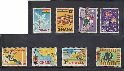 (U4-42) 1960-70 Ghana mix of 17stamps ½d to 1/- (F)