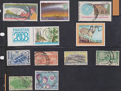 (U3-16) 1900-80 Pakistan mix of 11stamps 15P to 4R (C)