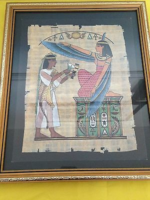 Egyptian Print Picture in Frame