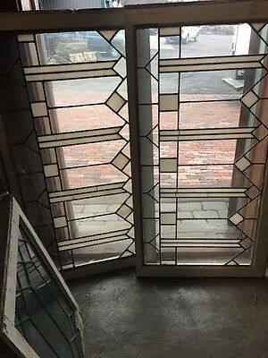 Sg 1137 2 Available Price Separate Antique Leaded Glass Transom Window